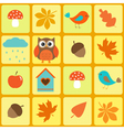 Birdsowl and autumnal leaves vector image vector image