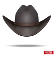 Black cowboy hat Isolated on white background vector image