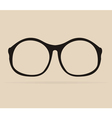 Black professor glasses shilouette vector image vector image