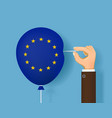 brexit uk from the european union brexit vector image vector image