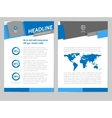 Brochure Flyer Design Layout Template vector image