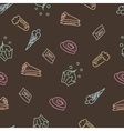 Brown pattern with sweets vector image vector image