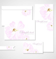 card with pastel pink roses vector image vector image