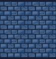 cartoon blue stone wall texture vector image