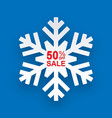 christmas discount winter on sales for stores vector image vector image