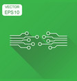 circuit board icon business concept technology vector image