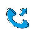 color phone call received sign telephone icon vector image