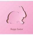 Creative Easter bunny vector image