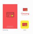 credit card company logo app icon and splash page vector image vector image