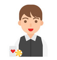 croupier icon profession and job vector image vector image