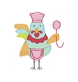 Cute cartoon rooster character vector image vector image