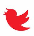 donald trump social media bird icon vector image