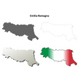 Emilia-Romagna blank detailed outline map set vector image vector image