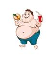 fat man vector image