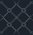 gold silver mandala and chain hexagon seamless vector image