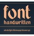 gothic handwritten font Vintage vector image vector image
