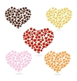 Heart bubbles Valentines Day set vector image vector image