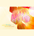 hexagon abstract colors scene vector image vector image