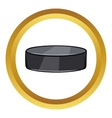 Hockey puck icon cartoon style vector image vector image