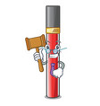 judge lip gloss above cartoon makeup table vector image vector image