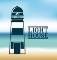 light house vector image