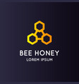 logo bee honey stylish and modern sign for vector image vector image