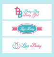love baby design collection vector image vector image