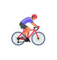 man cyclist on road vector image vector image