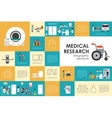 Medical research flat web infographic Syringe vector image