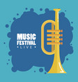 music festival live with trumpet vector image vector image