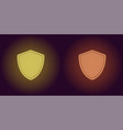 neon icon of yellow and orange network shield vector image