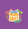 new orleans mardi gras background vector image