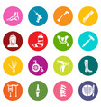 orthopedist bone tools icons set colorful circles vector image vector image
