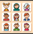 people face icons 31 vector image vector image