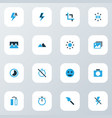 photo icons colored set with timer broken image vector image