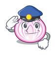 police cut in half slice onion cartoon vector image vector image