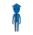 police man icon vector image