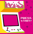 press start to play arcade vector image vector image