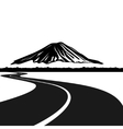 Road to Mount Fuji vector image
