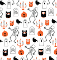 scary halloween pattern vector image vector image