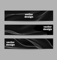 set banner templates with color wave design vector image