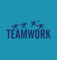 silhouette business teamwork concept business vector image