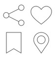 simple set thin line icons 03 vector image vector image