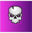skull mascot logo design with modern concept vector image