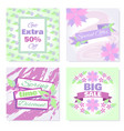 spring sale banners set vector image vector image