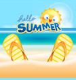 summer vacation at beach background vector image