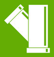 tee fitting pipe icon green vector image vector image