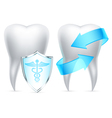 Teeth protection vector image