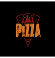urban pizza slice design template on black vector image vector image