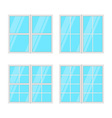Windows set isolated on white background vector image vector image